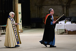Choral Evensong at Lincoln Cathedral with the Investiture and Installation of The Reverend Dr Paul Overend as Prebendary of Stoke and Chancellor of Lincoln and the Investiture and Installation of Canons.<br /> <br /> Picture: Chris Vaughan Photography for the Diocese of Lincoln<br /> Date: February 3, 2018