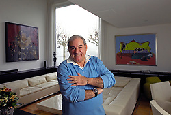 ZURICH,  SWITZERLAND - DEC-15-2006 - Hans-Peter Fassler at his water-front home near Zurich with a few examples of his extensive art collection and his luxury automobiles. (PHOTO © JOCK FISTICK)