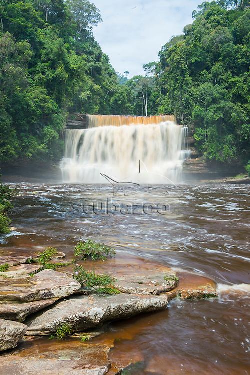 Tiered waterfalls, Maliau Basin, Sabah, Malaysia, Borneo,