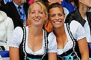 Amsterdam, NETHERLANDS,AUT BWL2X,(Left) Christina SPERRER and Stefanie BORZACCHINI ,  2011 FISA U23 World Rowing Championships, Wednesday, 20/07/2011 [Mandatory credit:  Intersport Images].