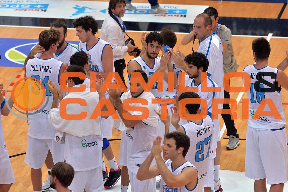 DESCRIZIONE : Trento Nazionale Italia Uomini Trentino Basket Cup Italia Germania Italy Germany<br /> GIOCATORE : Team<br /> CATEGORIA : Esultanza<br /> SQUADRA : Italia Italy<br /> EVENTO : Trentino Basket Cup<br /> GARA : Italia Germania Italy Germany<br /> DATA : 10/07/2014<br /> SPORT : Pallacanestro<br /> AUTORE : Agenzia Ciamillo-Castoria/GiulioCiamillo<br /> Galleria : FIP Nazionali 2014<br /> Fotonotizia : Trento Nazionale Italia Uomini Trentino Basket Cup Italia Germania Italy Germany