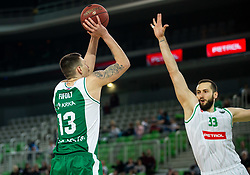 Ziga Fifolt of Krka during basketball match between KK Petrol Olimpija and KK Krka in Round #6 of Liga Nova KBM za prvaka 2018/19, on April 5, 2019, in Arena Stozice, Ljubljana, Slovenia. Photo by Vid Ponikvar / Sportida