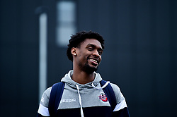Levi Bradley of Bristol Flyers heads towards the bus before leaving the Village Hotel to travel to Worcester Wolves - Photo mandatory by-line: Ryan Hiscott/JMP - 01/11/2019 - BASKETBALL - University of Worcester - Bristol, England - Worcester Wolves v Bristol Flyers - British Basketball League Cup