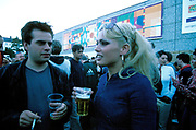 A couple drinking, Quart festival, Kristiansands Norway 2000