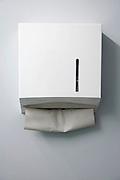 paper towel dispenser in a public bathroom