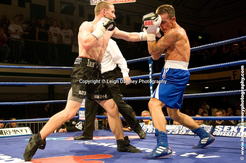 Ryan Walsh defeats Michael O'Gara at York Hall, Bethnal Green 9th ocotber 2009. Frank Warren Promotions.Credit: ©Leigh Dawney Photography