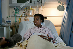 UK ENGLAND LONDON 8JUL05 - Cythia Bobb-Semple (43) is being interviewed at her hospital bed at St. Mary's hospital in Paddington, West London. She is an eyewitness to the train bombing at Edware Road and was in the carriage next to the blast. At least 37 people have been killed and hundreds injured after four blasts on the Underground network and a double-decker bus in London. Full interview available by Pool at Press Association...jre/Photo by Jiri Rezac..© Jiri Rezac 2005..Contact: +44 (0) 7050 110 417.Mobile:  +44 (0) 7801 337 683.Office:  +44 (0) 20 8968 9635..Email:   jiri@jirirezac.com.Web:    www.jirirezac.com..© All images Jiri Rezac 2005 - All rights reserved.