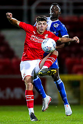 Henry Njonjo of Bristol Rovers challenges Harry Parsons of Swindon Town - Mandatory by-line: Robbie Stephenson/JMP - 29/10/2019 - FOOTBALL - County Ground - Swindon, England - Swindon Town v Bristol Rovers - FA Youth Cup Round One