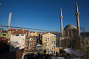 Istanbul. Ortako?y. The weekend market in front of Ortako?y Mosque and Bosporus Bridge.