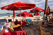 Beach bar along Junkanoo beach Nassau, Bahamas, Caribbean