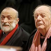 Carlo Petrin con Dario Fo a Pollenzo in occasione del <br /> Graduation Day 2014 per celebrare i nuovi dottori in Scienze Gastronomiche