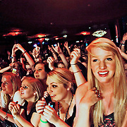 "Fans cheer as Never Shout Never performs on October 19, 2010 in support of ""Harmony"" at the Showbox at the Market in Seattle, Washington"