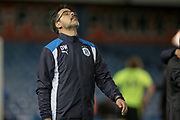 A relieved Huddersfield Town Manager David Wagner after his side progress to the final of the Championship playoffs having won 4-3 on penalties during the EFL Sky Bet Championship play off second leg match between Sheffield Wednesday and Huddersfield Town at Hillsborough, Sheffield, England on 17 May 2017. Photo by Mark P Doherty.