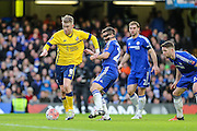 Scunthorpe's Paddy Madden on the ball during the The FA Cup third round match between Chelsea and Scunthorpe United at Stamford Bridge, London, England on 10 January 2016. Photo by Shane Healey.