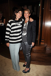 Left to right, BELLA FREUD and TIPHAINE CHAPMAN at a screening of a short film directed by Willem Jaspert and Stephen Langmanis to celebrate the launch of Bella Freud and Susie Bick's first design collaboration held at Town Hall, 8 Patriot Square, London E2 on 6th September 2010.