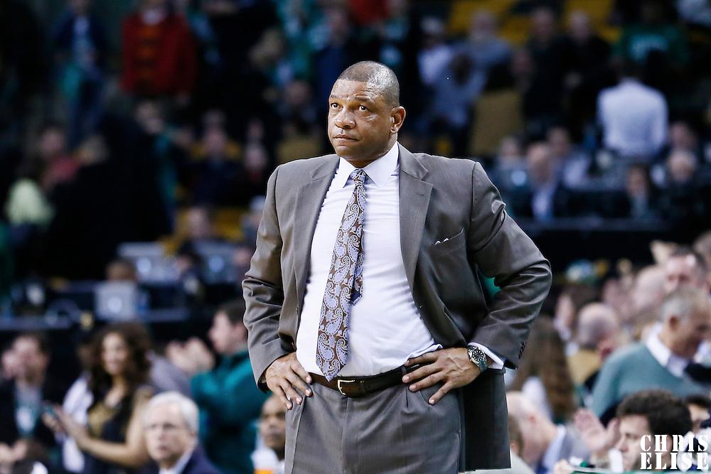 30 January 2013: Boston Celtics head coach Doc Rivers is seen during the Boston Celtics 99-81 victory over the Sacramento Kings at the TD Garden, Boston, Massachusetts, USA.