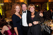 EMMA WILSON; ED VAIZEY;ANNE ROBINSON, Man Booker prize 2011. Guildhall. London. 18 October 2011. <br /> <br />  , -DO NOT ARCHIVE-© Copyright Photograph by Dafydd Jones. 248 Clapham Rd. London SW9 0PZ. Tel 0207 820 0771. www.dafjones.com.