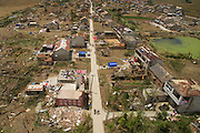YANCHENG, CHINA - JUNE 25: <br /> <br /> Aerial view of damaged houses in Jiqiao Village of Funing County after hail and tornado on June 25, 2016 in Yancheng, Jiangsu Province of China. A heavy hail and strong tornado hit Funing city in eastern China\'s Jiangsu province on June 23, causing at least 98 people dead and some 800 injured, according to the local media. <br /> ©Exclusivepix Media
