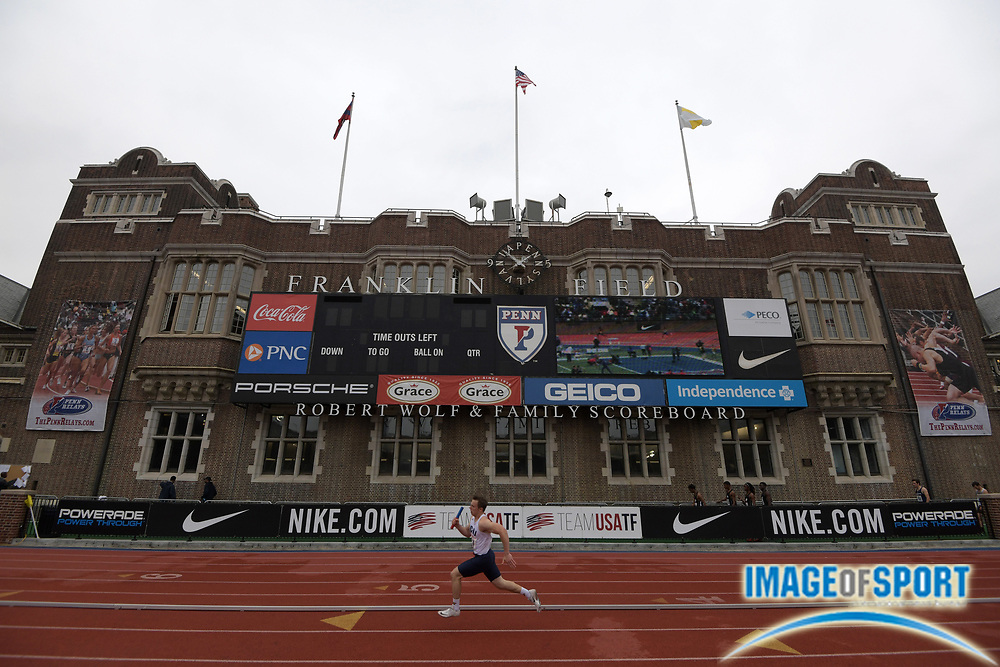 Apr 27, 2018; Philadelphia, PA, USA; General overall view of 124th Penn Relays at Franklin Field.