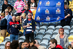 Dejected Bristol Ladies fans after losing in the Play Off Final having finished the regular season top of the league - Rogan Thomson/JMP - 23/04/2017 - RUGBY UNION - Sixways Stadium - Worcester, England - Bristol Ladies Rugby v Aylesford Bulls - Women's Premiership Final.