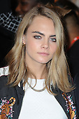 model Cara Delevingne opens the newest H&M store