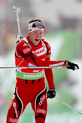 11.12.2011, Biathlonzentrum, Hochfilzen, AUT, E.ON IBU Weltcup, 2. Biathlon, Hochfilzen, Staffel Herren, im Bild Jubel beim Schlusslaufer des SiegerteamsBoe Tarjei (Team NOR) // during Team Relay E.ON IBU World Cup 2th Biathlon, Hochfilzen, Austria on 2011/12/11. EXPA Pictures © 2011. EXPA Pictures © 2011, PhotoCredit: EXPA/ nph/ Straubmeier..***** ATTENTION - OUT OF GER, CRO *****
