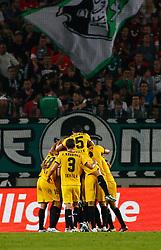 18.08.2011, AWD-Arena, Hannover, GER, EL,  Play Off, Hannover 96 (GER) vs FC Sevilla (ESP), im Bild Die Spieler des FC Sevilla bejubeln den ausgleich zum 1 zu 1 .// during the match from GER, EL, Play Off,  Hannover 96 (GER) vs FC Sevilla (ESP) on 2011/08/18, AWD-Arena, Hannover, Germany. .EXPA Pictures © 2011, PhotoCredit: EXPA/ nph/  Schrader       ****** out of GER / CRO  / BEL ******