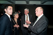 ANGELA TREVES; VANNI TREVES, NICK KENYON, LA Philharmonic reception, Fountain room, Barbican. 27 January 2011 -DO NOT ARCHIVE-© Copyright Photograph by Dafydd Jones. 248 Clapham Rd. London SW9 0PZ. Tel 0207 820 0771. www.dafjones.com.