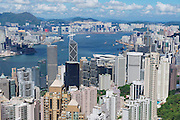 HONG KONG, CHINA - SEPTEMBER 12, 2012: View to the modern buildings of the Hong Kong city in Hong Kong, China.