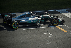 March 10, 2017 - Montmelo, Catalonia, Spain - VALTTERI BOTTAS (FIN) practices the start in his Mercedes W08 EQ Power+ on track during day 8 of Formula One testing at Circuit de Catalunya (Credit Image: © Matthias Oesterle via ZUMA Wire)