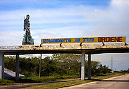 Fidel Castro sign in Mariel, Artemisa, Cuba.