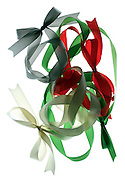 various gift wrap ribbons with bow