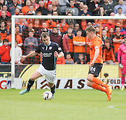 Dundee's Paul McGowan and Dundee United's Blair Spittal - Dundee United v Dundee at Tannadice Park in the SPFL Premiership<br /> <br />  - &copy; David Young - www.davidyoungphoto.co.uk - email: davidyoungphoto@gmail.com