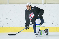 Gasper Kopitar during practice session with Anze Kopitar, NHL star and player of Los Angeles Kings before departure to USA, on September 3, 2014 in Ledna dvorana Bled, Slovenia. Photo by Vid Ponikvar  / Sportida.com