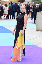 Florence Pugh arriving for Royal Academy of Arts Summer Exhibition Preview Party 2019 held at Burlington House, London. Picture date: Tuesday June 4, 2019. Photo credit should read: Matt Crossick/Empics. EDITORIAL USE ONLY.