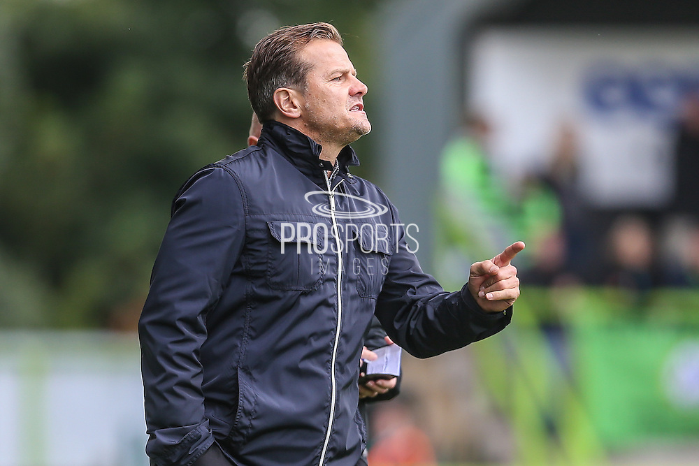 Forest Green Rovers manager, Mark Cooper during the Vanarama National League match between Forest Green Rovers and York City at the New Lawn, Forest Green, United Kingdom on 20 August 2016. Photo by Shane Healey.