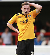 Newport County player Kieran Parselle during the Sky Bet League 2 match between Dagenham and Redbridge and Newport County at the London Borough of Barking and Dagenham Stadium, London, England on 19 September 2015. Photo by Bennett Dean.