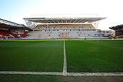 The new West Stand under constuction at Ashton Gate before the Sky Bet Championship match between Bristol City and Rotherham United at Ashton Gate, Bristol, England on 5 April 2016. Photo by Graham Hunt.