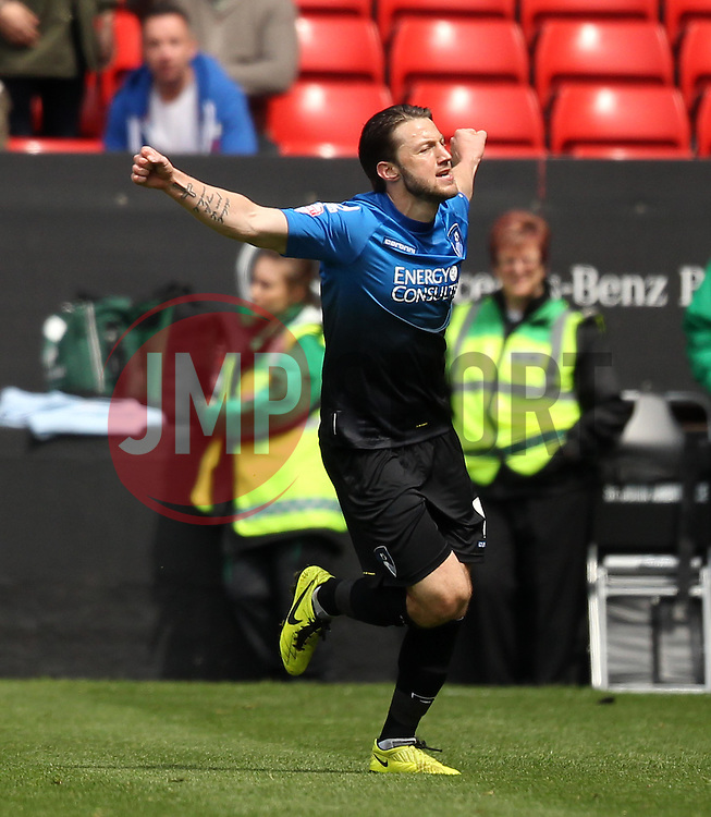 Bournemouth's Harry Arter celebrates scoring his sides second goal - Photo mandatory by-line: Robbie Stephenson/JMP - Mobile: 07966 386802 - 02/05/2015 - SPORT - Football - Charlton - The Valley - Charlton v AFC Bournemouth - Sky Bet Championsip