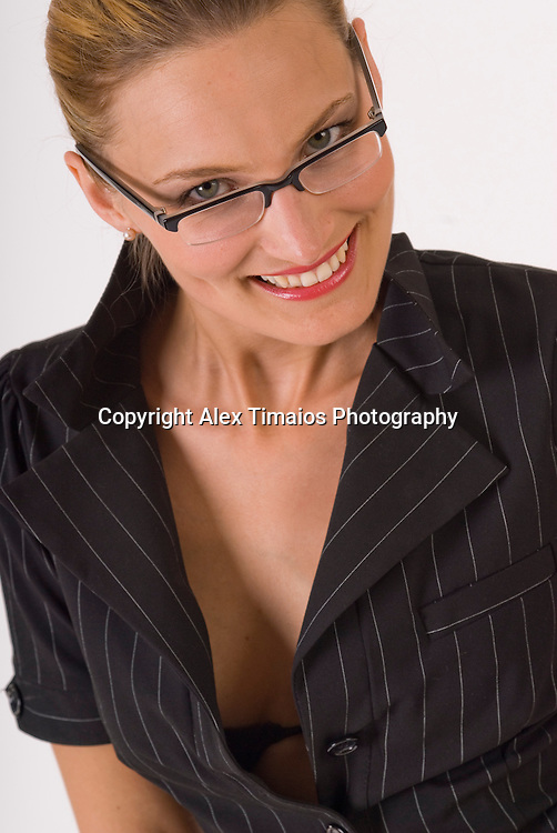 portrait of a business woman wearing a suit