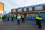 Police watch over millwall fans arriving at Elland Road turnstiles during the EFL Sky Bet Championship match between Leeds United and Millwall at Elland Road, Leeds, England on 20 January 2018. Photo by Craig Zadoroznyj.