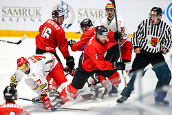 Alexander Kitarov of Belarus and Dainius Zubrus of Lithuania during ice hockey match between Lithuania and Belarus at IIHF World Championship DIV. I Group A Kazakhstan 2019, on April 29, 2019 in Barys Arena, Nur-Sultan, Kazakhstan. Photo by Matic Klansek Velej / Sportida