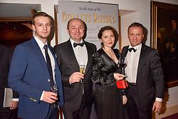 Victor Mikhailenko, Igor Mikhailenko, Valeri Dapiter and Mark Ivassilevitch at the Russian Ballet Icons Gala, The London Coliseum, St.Martin's Lane, London,  England. 12 March 2017.