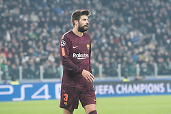 November 22, 2017 - Turin, Piemonte/Torino, Italy - Geral Piqué (Barcelona FC) during the Champions League mathc: Juventus FC vs Barcelona FC at the Juventus Stadium. The final scorre is 0-0 Turin, Italy 22th November 2017  (Credit Image: © Alberto Gandolfo/Pacific Press via ZUMA Wire)