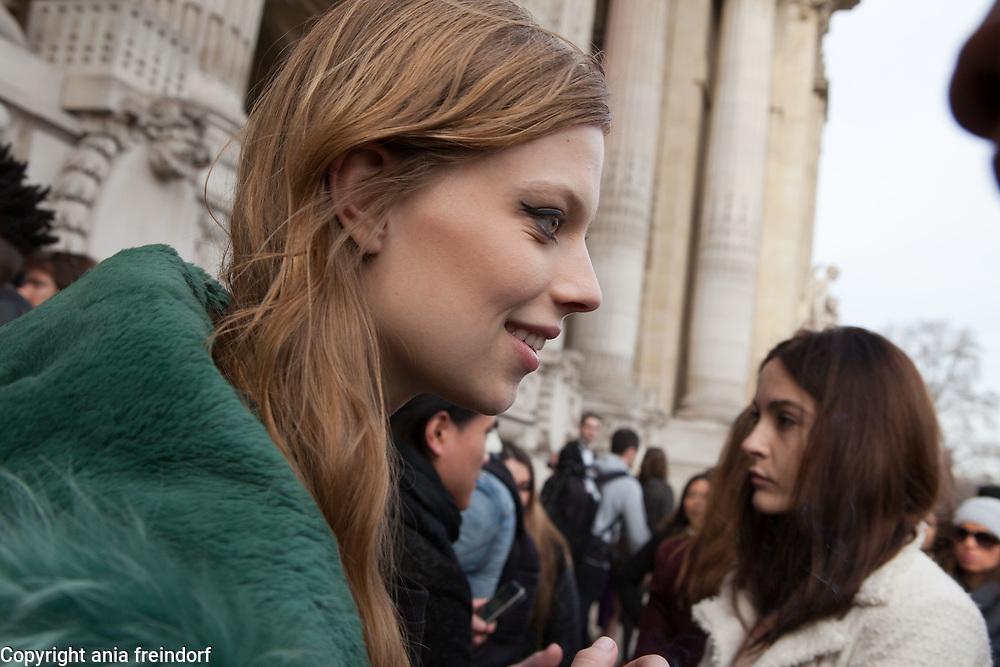 Paris Fashion Week Mugler Womenswear Fall/Winter 2015/2016 on March 7, 2015 in Paris, France