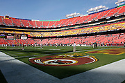 LANDOVER, MD - NOVEMBER 11: The Philadelphia Eagles and the Washington Redskins warm up pregame on November 11, 2007 at FedEx Field in Landover, Maryland. The Eagles won 33-25.