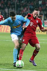 20.12.2011, Rewirpowerstadion, Bochum, GER, DFB Pokal, Achtelfinale, Vfl Bochum vs FC Bayern Muenchen, im Bild Zweikampf zwischen Marcel Maltritz (Bochum #4) gegen Franck Ribery (Muenchen #7) // during the Round of last sixteen from GER Vfl Bochum vs FC Bayern Muenchen, on 2011/12/20, Rewirpowerstadion, Bochum, Germany. EXPA Pictures © 2011, PhotoCredit: EXPA/ nph/ Mueller..***** ATTENTION - OUT OF GER, CRO *****