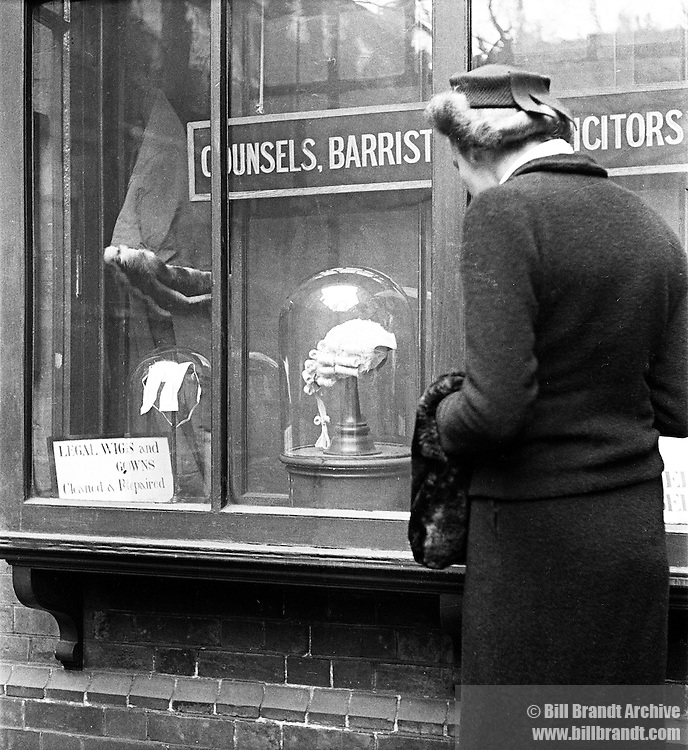 Legal wig maker shop window London