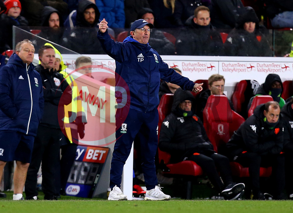 Middlesbrough manager Tony Pulis - Mandatory by-line: Robbie Stephenson/JMP - 02/03/2018 - FOOTBALL - Riverside Stadium - Middlesbrough, England - Middlesbrough v Leeds United - Sky Bet Championship