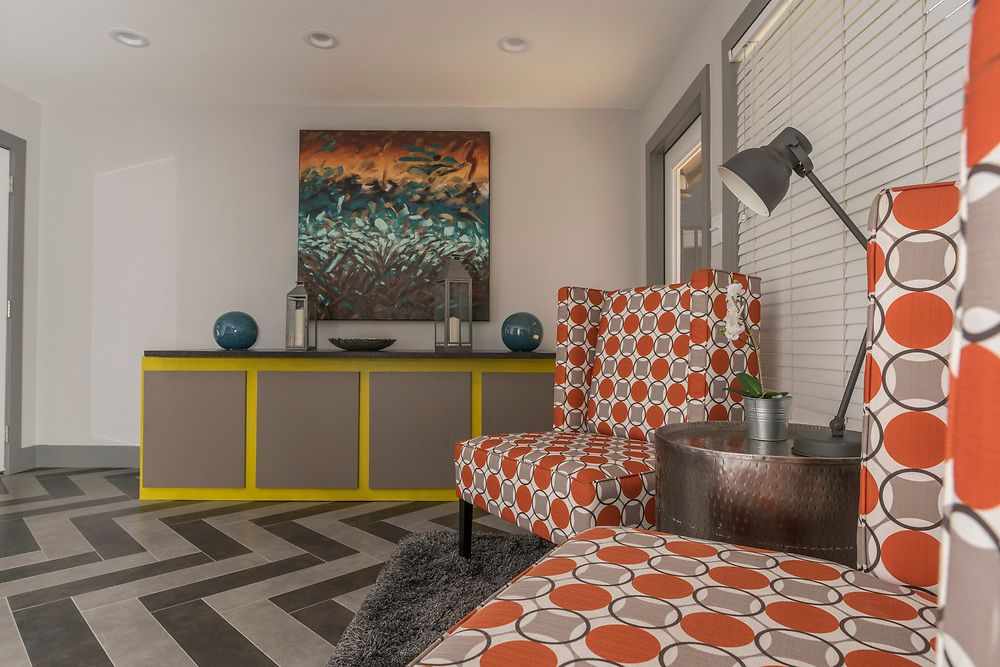 Post-renovation photographs of the 9500 Apartments in Austin, Texas, for Dayrise. Formerly known as Marlborogh and Englebrook.